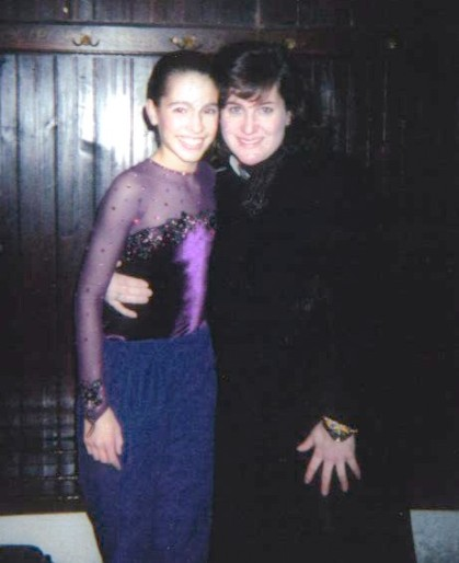 Alissa and Julianne at her first International in Slovenia where she won, in 2001